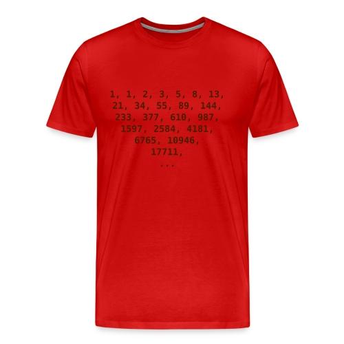 Fibonacci Zahlen Men - Männer Premium T-Shirt