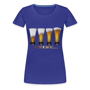 tshirt loading beers by customstyle - T-shirt Premium Femme