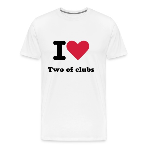 I Love two of clubs - Herre premium T-shirt