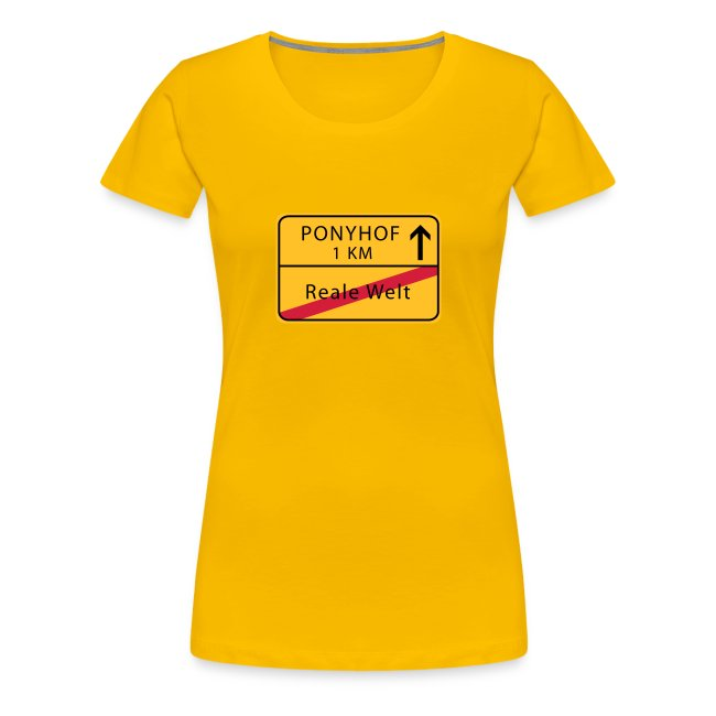 Ponyhof - reale Welt - Frauen T-Shirt (md)