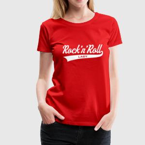 Rock 'n' Roll Lady, Girlie-T-Shirt - Frauen Premium T-Shirt