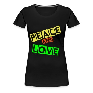 PEACE AND LOVE - Women's Premium T-Shirt