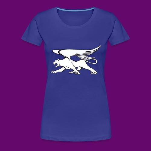 Panthère Blanche ailée (création Louis RUNEMBERG) - T-shirt Premium Femme