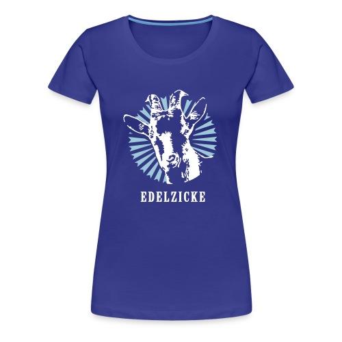 Edelzicke Blau - Frauen Premium T-Shirt