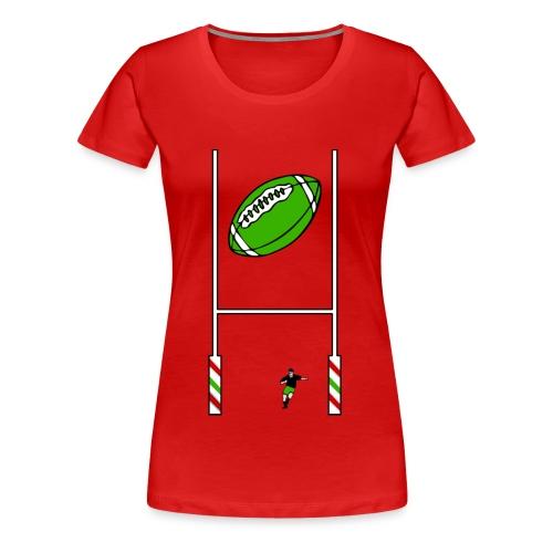 t-shirt rugby design - T-shirt Premium Femme