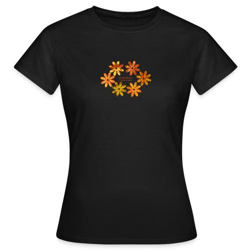 Damen Shirt mit Blumenmuster in Fuerteventura-Farben - Frauen T-Shirt
