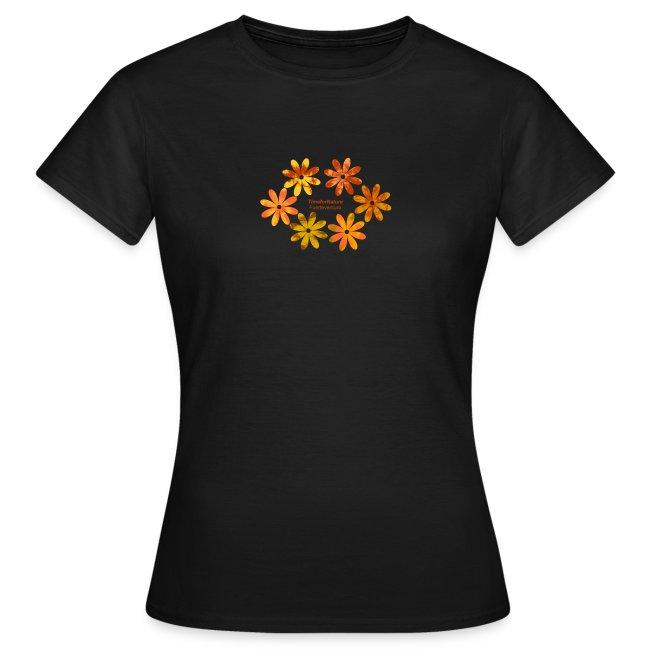 Damen Shirt mit Blumenmuster in Fuerteventura-Farben