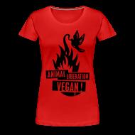 T-Shirts ~ Frauen Premium T-Shirt ~ Womens Shirt 'animal liberation vegan' BL