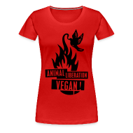 T-Shirts ~ Frauen Premium T-Shirt ~ Womens Shirt 'animal liberation vegan' BL