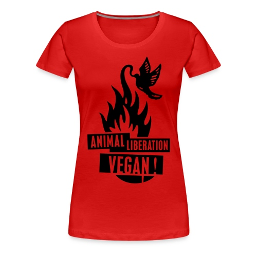 Womens Shirt 'animal liberation vegan' BL - Frauen Premium T-Shirt