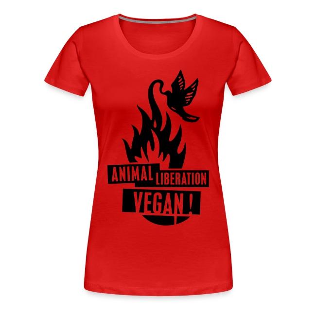 Womens Shirt 'animal liberation vegan' BL