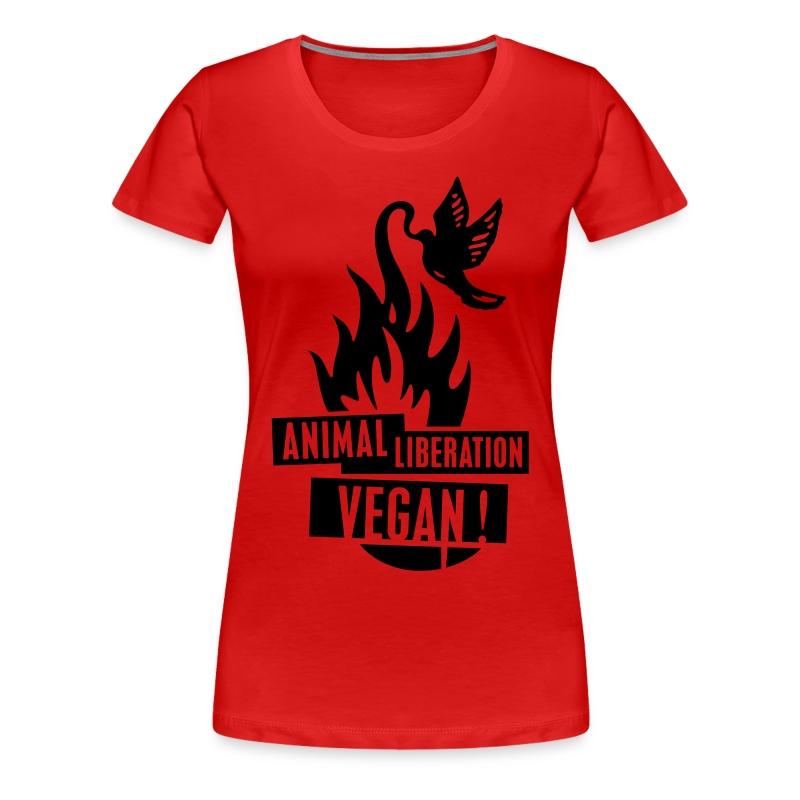 Womens Shirt 'animal liberation vegan' BL - Frauen Premium T-Shirt