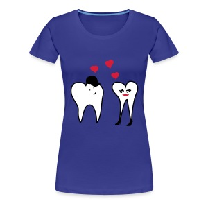 Zähne in Love - Frauen Premium T-Shirt