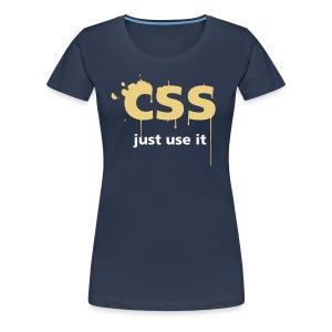 CSS Just Use It ! pour filles - T-shirt Premium Femme
