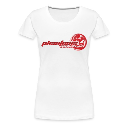 Women's Premium T-Shirt - Womens t-shirt with Phantoms Sledge Hockey logo on the front & Phantoms roundel logo on the reverse. Choice of colours available.