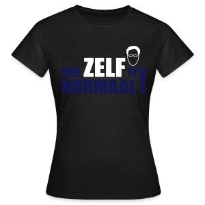 Doe ZELF ff normaal! - women's - OLIVE - Vrouwen T-shirt