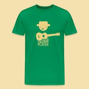 Menshirt: Ukulele Player (Motiv: beige / vorne) - Männer Premium T-Shirt