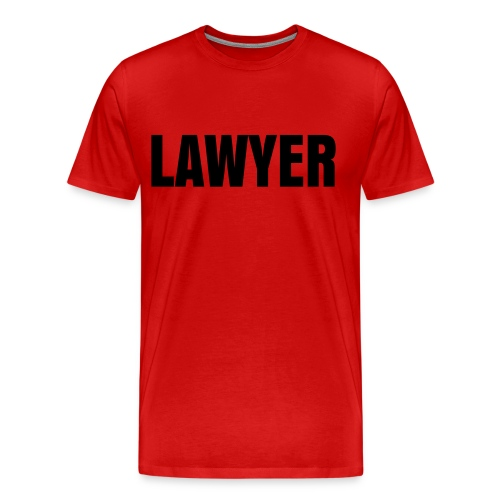 LAWYER Black on Red - Men's Premium T-Shirt