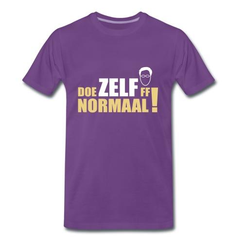 Doe ZELF ff normaal! - men's - INDIGO - Mannen Premium T-shirt