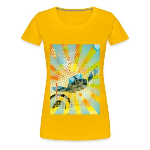 Sunglass Turtle - Frauen Premium T-Shirt