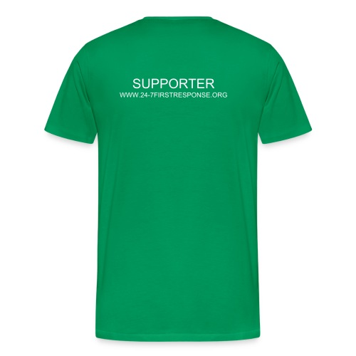 Mens 24-7 supporters t-shirt khaki green - Men's Premium T-Shirt