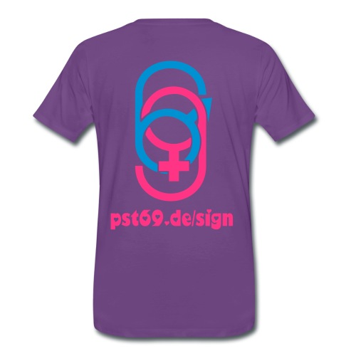 pst69.de/sign Love 69 Neon - Männer Premium T-Shirt