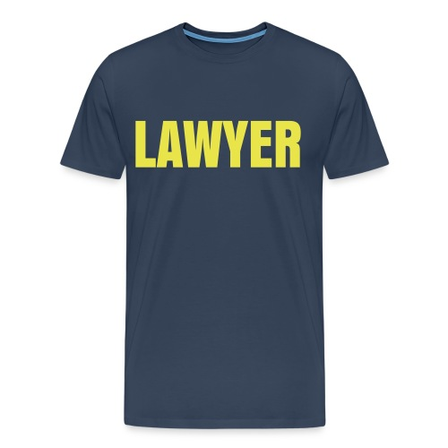LAWYER Yellow Logo T - Men's Premium T-Shirt