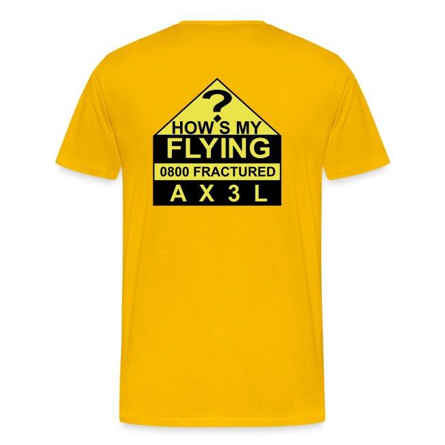 How's My Flying - men's ash T