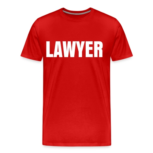 LAWYER White on Red - Men's Premium T-Shirt