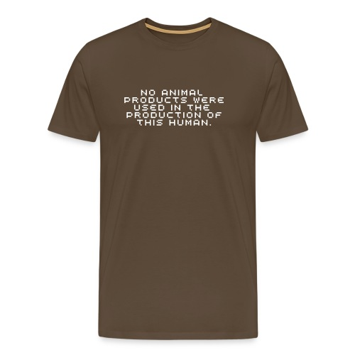 No animal products - Men's Premium T-Shirt