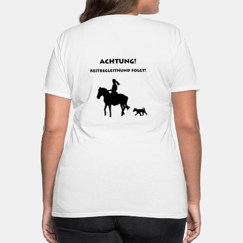 Shirt Reitbegleithund - Frauen Premium T-Shirt