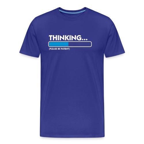 THINKINK_BLEU_ROYAL_BLANC - T-shirt Premium Homme