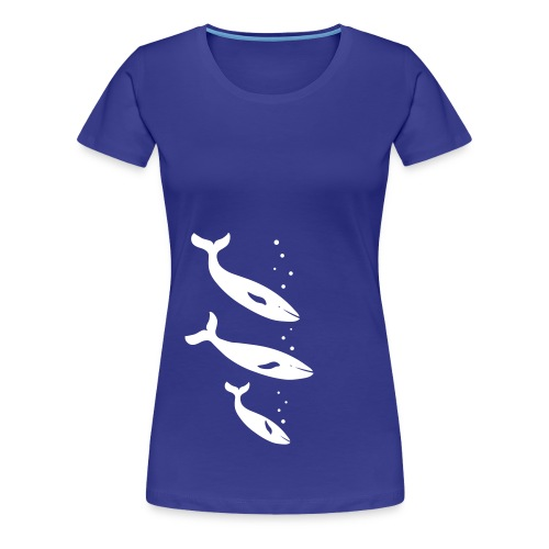 t-shirt wal wale delfin delphin orca orka blauwal meer fisch ozean tier shirt - Frauen Premium T-Shirt