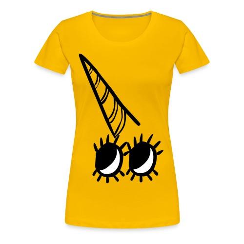 Licorne jaune - T-shirt Premium Femme
