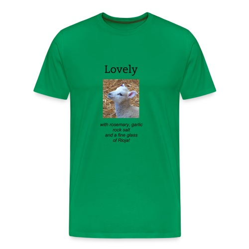 Men's Premium T-Shirt - wine,salt,rosemary,rioja,lovely,lamb,gourmet,glass,garlic,funny,cute,cooking,contrary,comedy