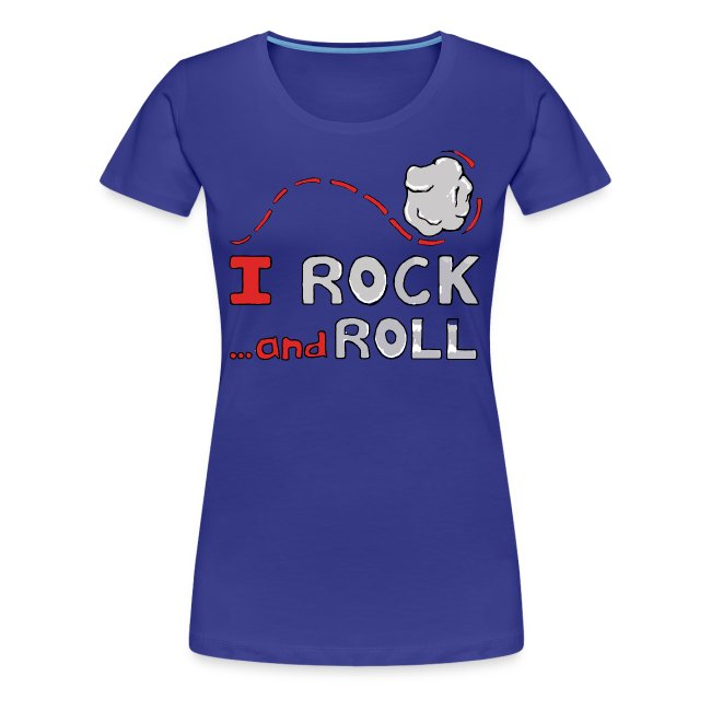 I Rock and Roll Girlie Tee