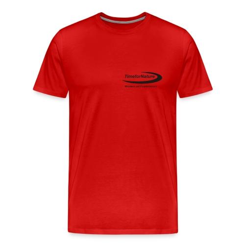 Herren-Shirt von 3XL-5XL mit TimeforNature-Logo  - Männer Premium T-Shirt