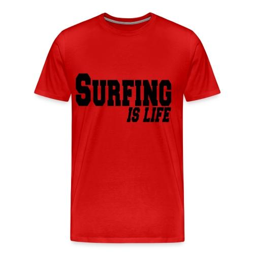 SURFING is life - Camiseta premium hombre