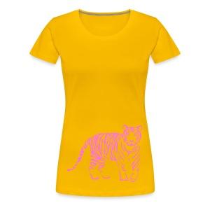 shirt tiger raubtier katze löwe puma lion cougar cat zoo wild tiershirt shirt tiermotiv tigermotiv party - Frauen Premium T-Shirt