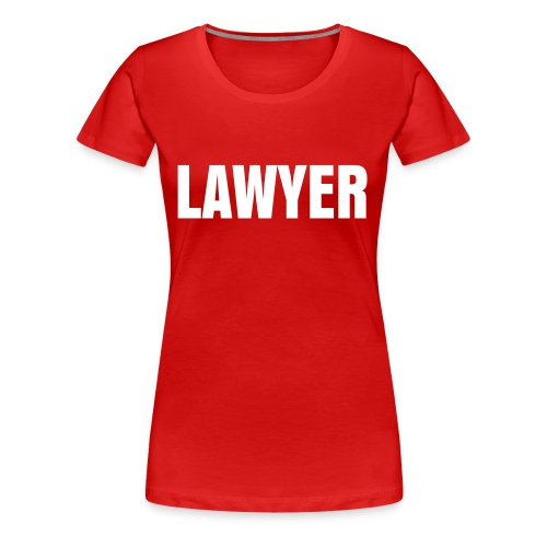 LADY LAWYER WHITE LOGO T-Shirt - Women's Premium T-Shirt