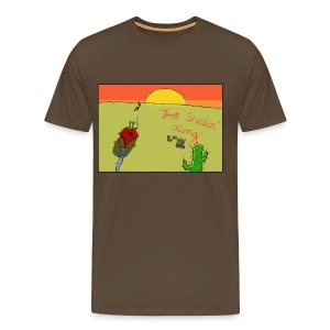 Just Snailin' Along Mens - Men's Premium T-Shirt