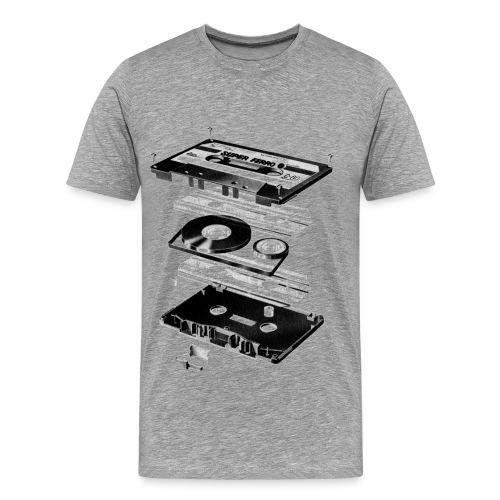 MUSIQUE_K7_CENDRE - T-shirt Premium Homme
