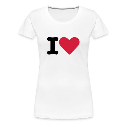 I Love ? - Vrouwen Premium T-shirt