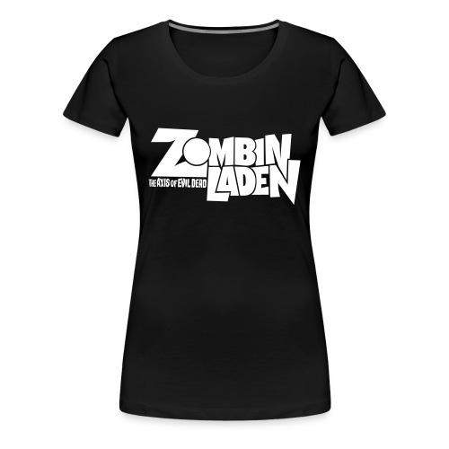 ZOMBINLADEN White LOGO WOMEN TSHIRT - T-shirt Premium Femme