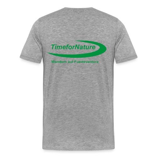 TimeforNature-Shirt für Herren mit Logo rückseitig - Männer Premium T-Shirt