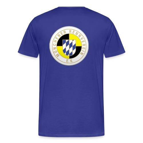 T-Shirt Klassisch Logo Rücken - Männer Premium T-Shirt