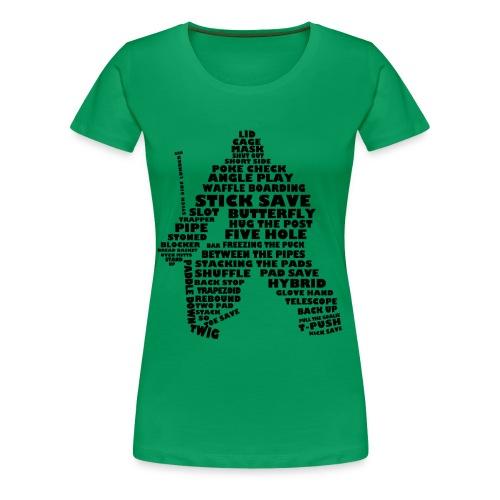 Ice Hockey Goalie Typography Women's Premium T-Shirt  - Women's Premium T-Shirt
