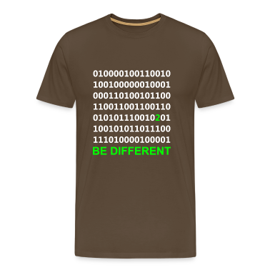 Be Different - Binary - Digital T-Shirts