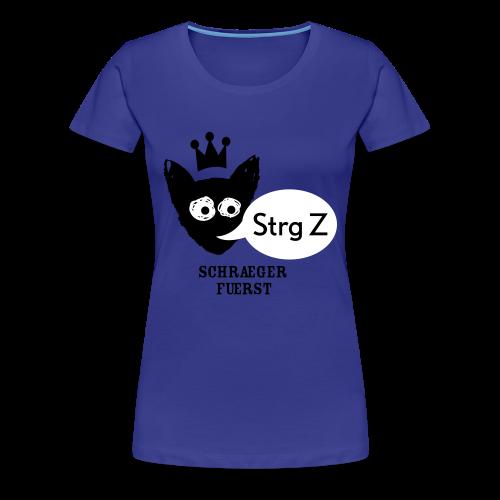 girlieshirt, Strg Z - Frauen Premium T-Shirt