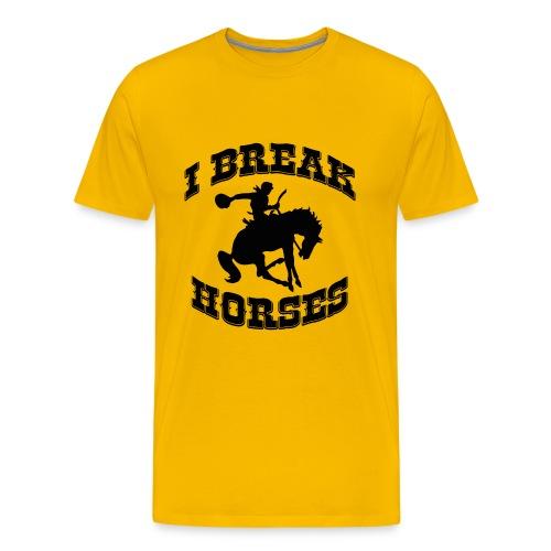 I Break Horses - Men's Premium T-Shirt